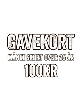 GAME - GAVEKORT - MÅNEDSKORT (VOKSEN)