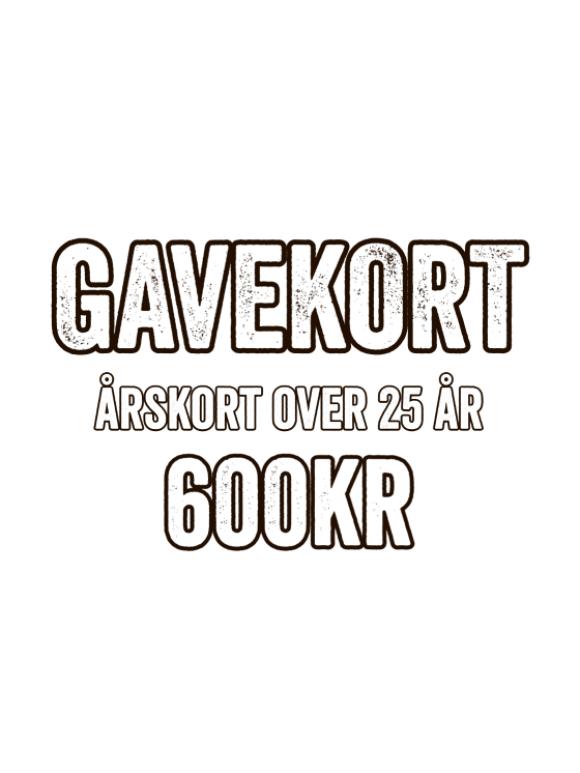 GAME - GAVEKORT - ÅRSKORT (VOKSEN)