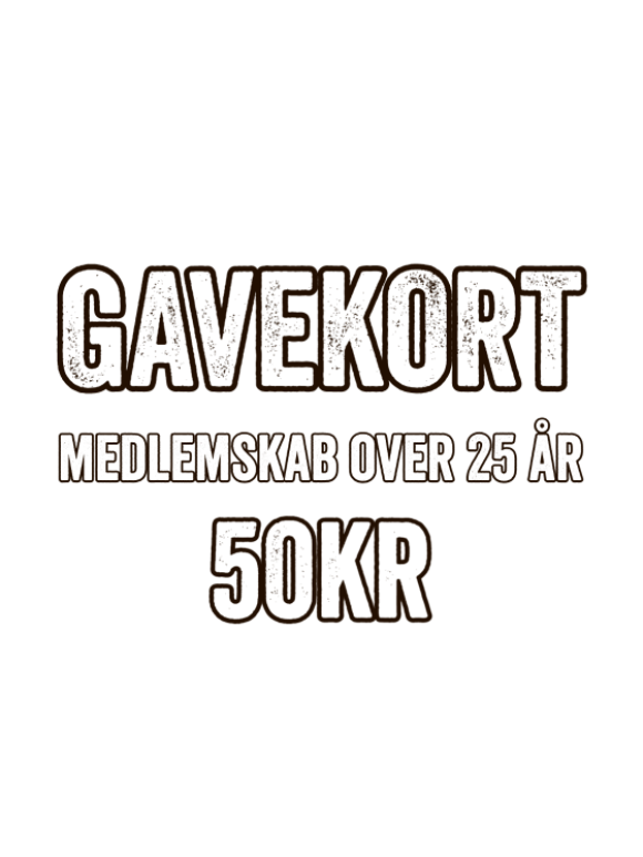 GAME - GAVEKORT - MEDLEMSKAB (VOKSEN)